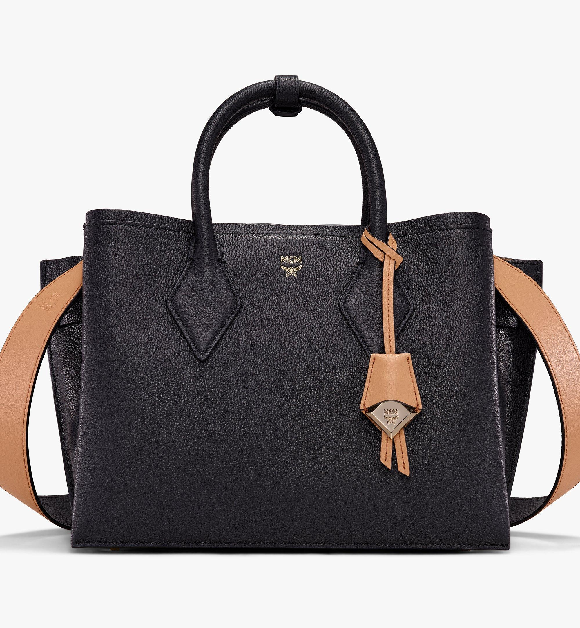 MCM Neo Milla Tote in Park Ave Leather Black MWT9AMA96BK001 Alternate View 1