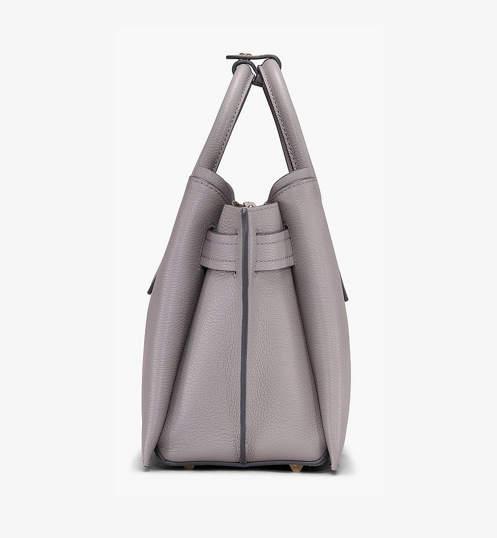 MCM Neo Milla Tote in Park Ave Leather Grey MWT9AMA96EZ001 Alternate View 1