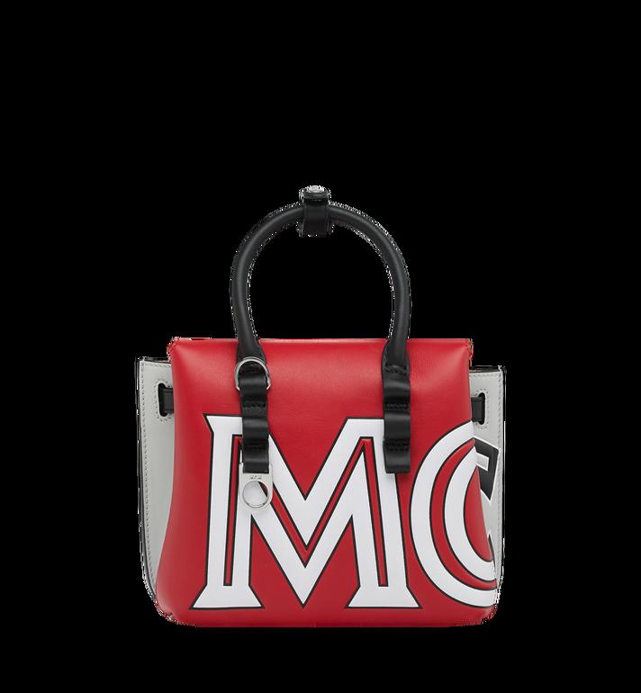 MCM 〈ミラ〉 トートバッグ コントラストロゴ レザー Alternate View