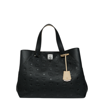 MCM Essential Tote in Monogram Leather MWT9SSE43BK001 AlternateView1