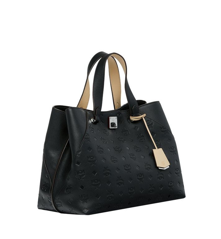 MCM Essential Tote in Monogram Leather MWT9SSE43BK001 AlternateView2