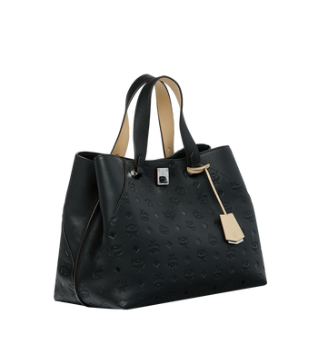 MCM Essential Tote in Monogram Leather AlternateView2