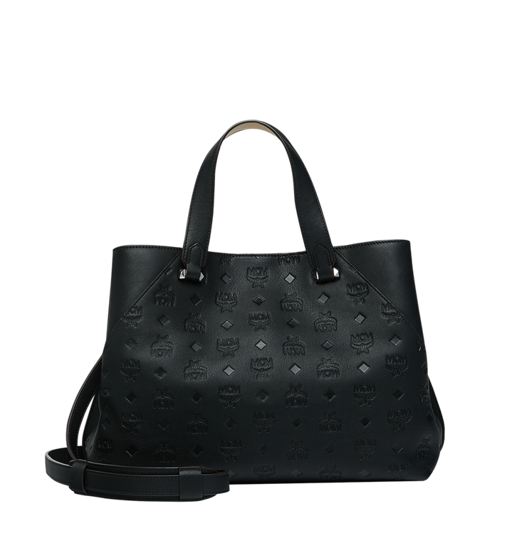 MCM Essential Tote in Monogram Leather MWT9SSE43BK001 AlternateView4