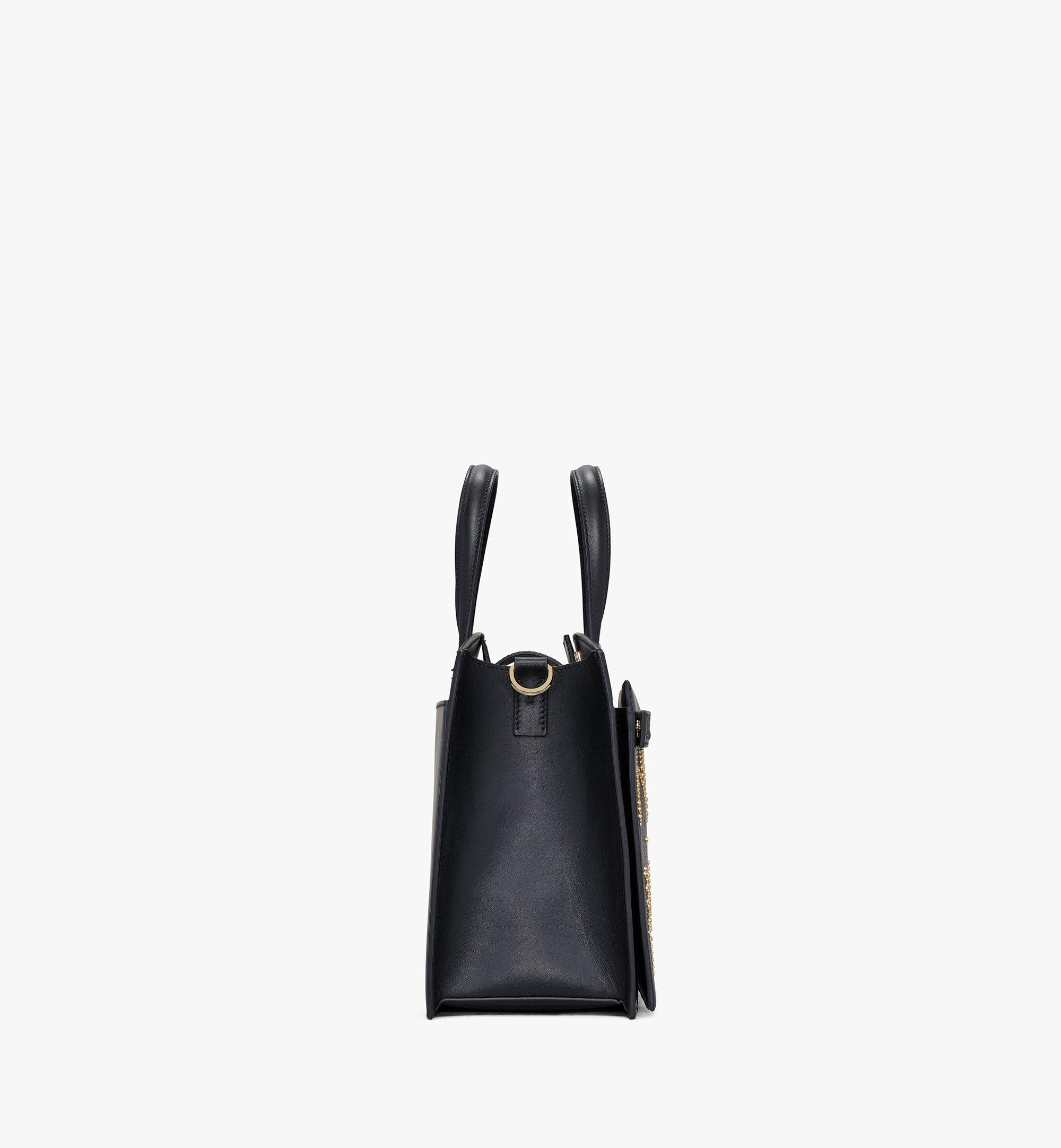 MCM Milano Lux Tote in Studded Leather Black MWTAADA03BK001 Alternate View 2