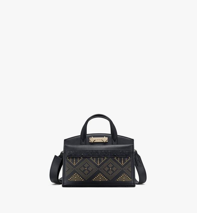 MCM Milano Lux Tote in Studded Leather Alternate View