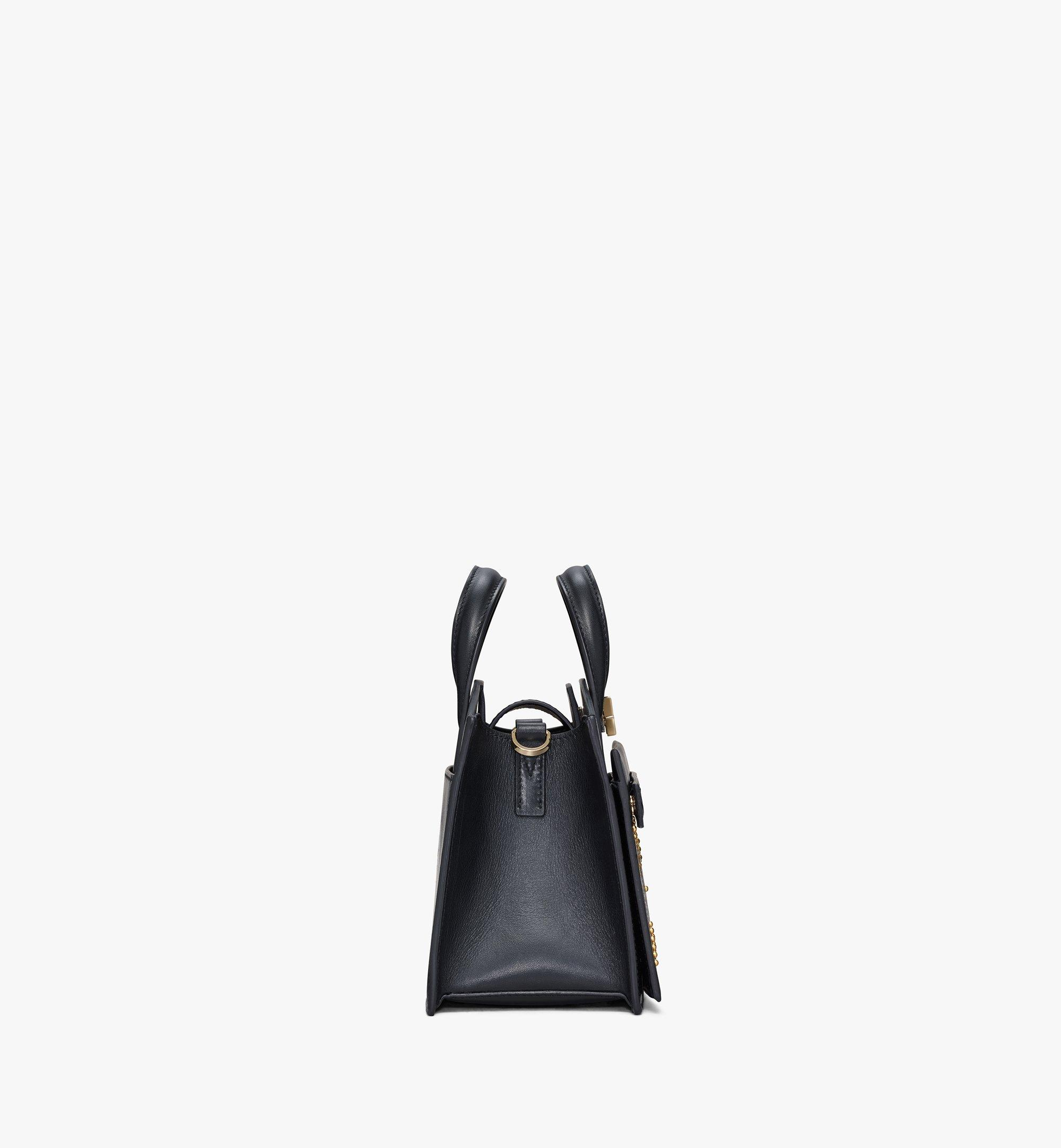 MCM Milano Lux Tote in Studded Leather Black MWTAADA04BK001 Alternate View 2