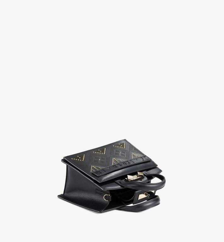 MCM Milano Lux Tote in Studded Leather Black MWTAADA04BK001 Alternate View 3