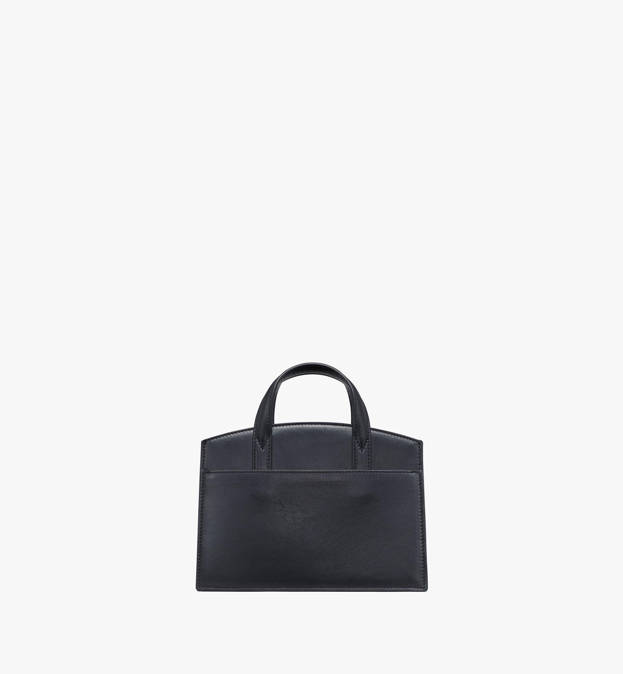 MCM Milano Lux Tote in Studded Leather Black MWTAADA04BK001 Alternate View 4