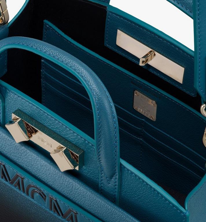 MCM Milano Tote in Patent Leather Gradient Black MWTASDA02BK001 Alternate View 4