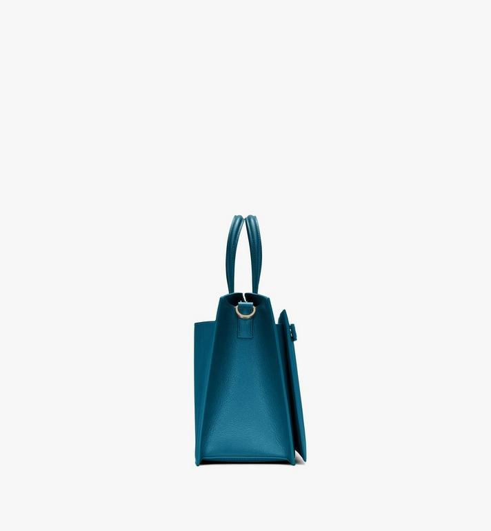 MCM Milano Tote Bag in Goatskin Leather Blue MWTASDA03JF001 Alternate View 2