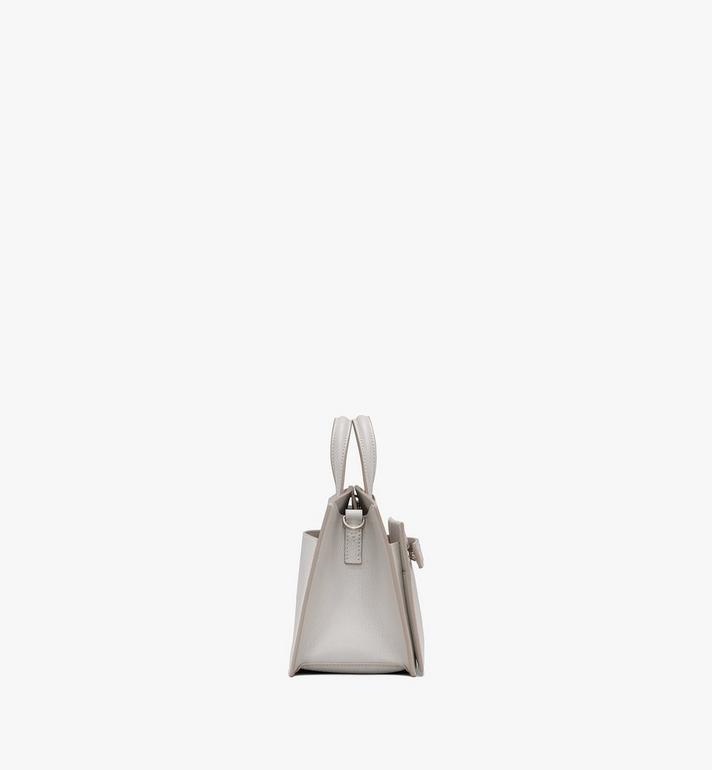 MCM Milano Tote Bag in Goatskin Leather Beige MWTASDA04IH001 Alternate View 2