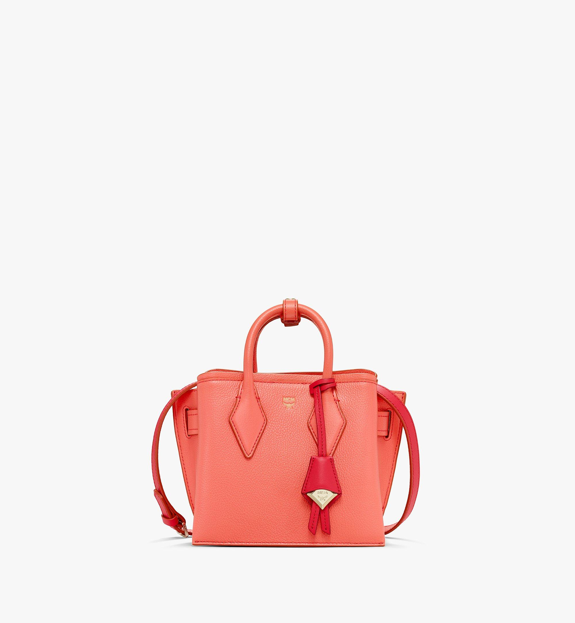 Mini Neo Milla Tote in Park Avenue Leather Hot Coral   MCM® DE