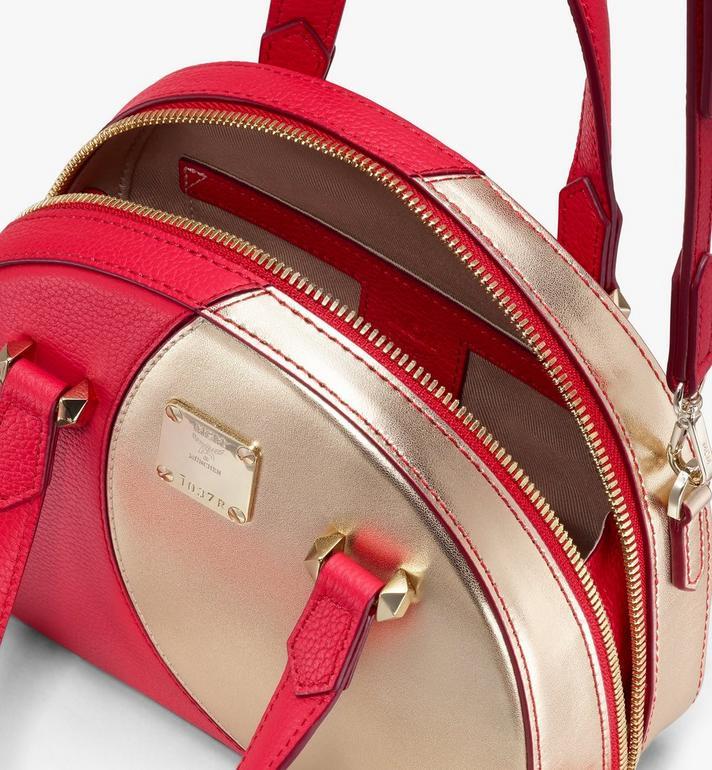 MCM Essential Half Moon Disco Tote Bag Red MWTASSE01R4001 Alternate View 4