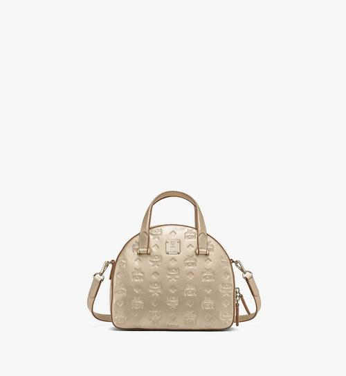 Essential Half Moon Tote in Monogram Metallic Leather