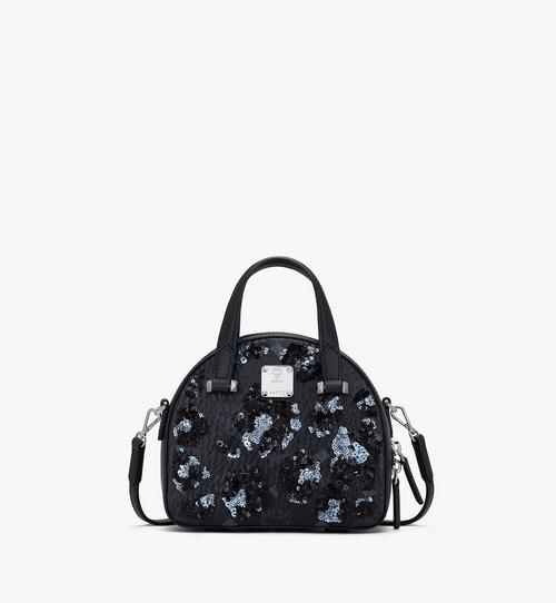 Essential Half Moon Tote in Floral Leopard Spangle