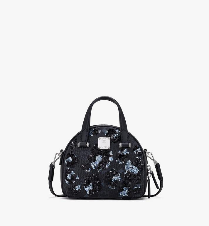 MCM Essential Disco Tote in Floral Leopard Alternate View