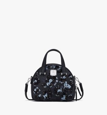 MCM Mini Essential Half Moon Tote in Floral Leopard Spangle Alternate View