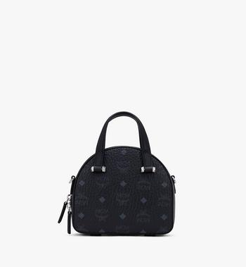 MCM Mini Essential Half Moon Tote in Floral Leopard Spangle Black MWTASSE03B1001 Alternate View 3