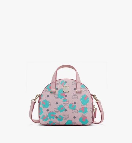 Essential Half Moon Tote in Floral Leopard
