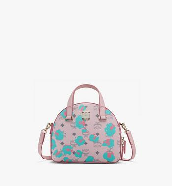 MCM Essential Round Tote in Floral Leopard Alternate View