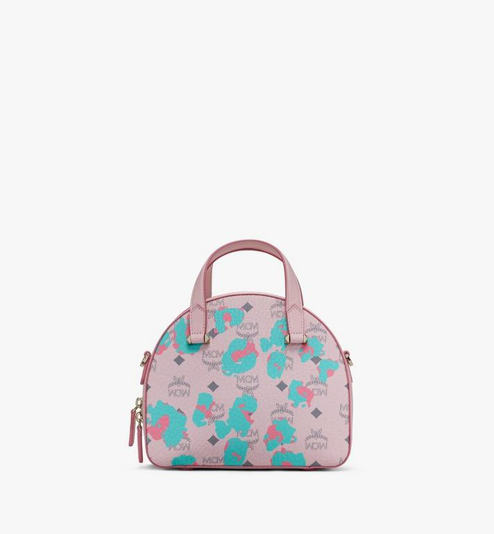 MCM Essential Round Tote in Floral Leopard Alternate View 3