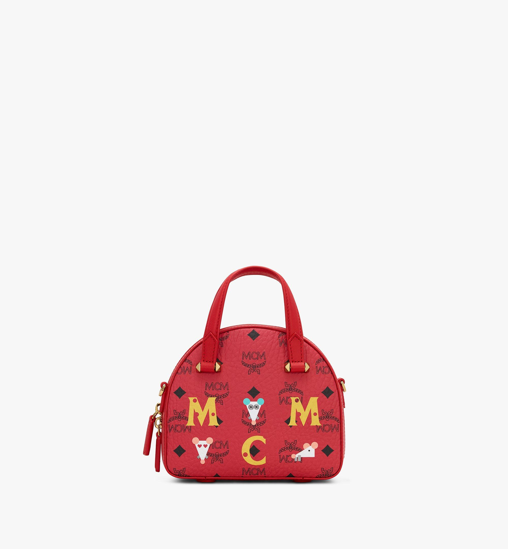 MCM Chinese New Year Essential Disco Tote Red MWTASSE09RJ001 Alternate View 1