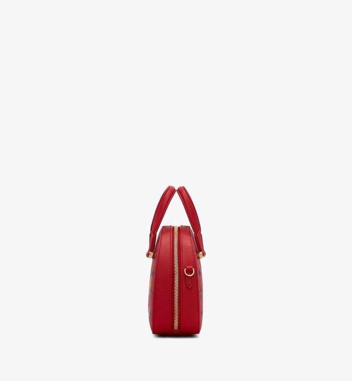MCM Year Of The Mouse Essential Half Moon Tote in Visetos Red MWTASSE09RJ001 Alternate View 2
