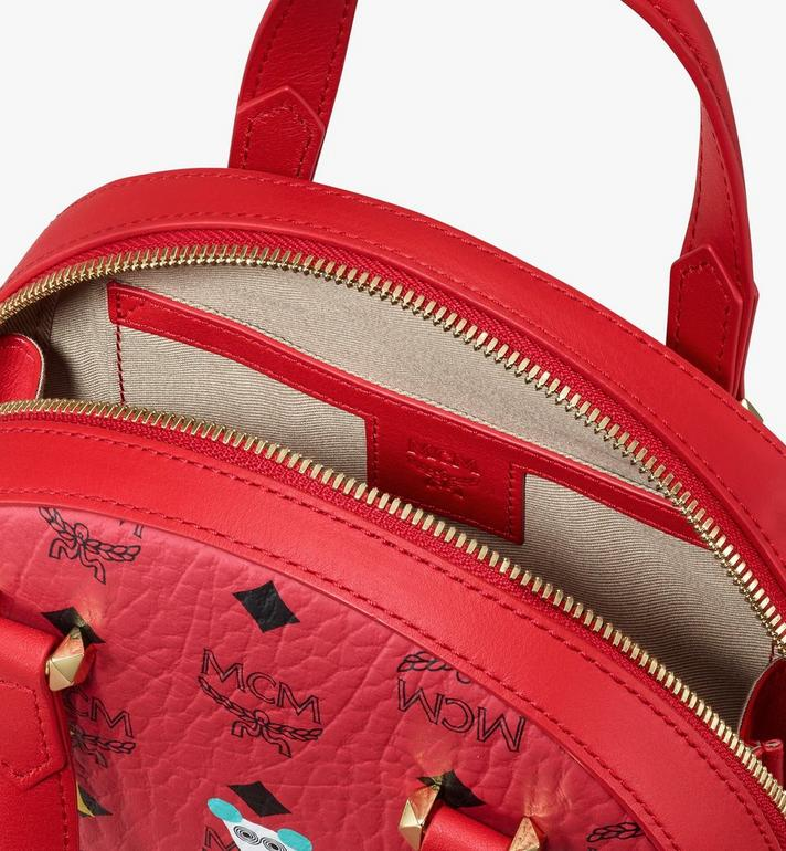 MCM Year Of The Mouse Essential Half Moon Tote in Visetos Red MWTASSE09RJ001 Alternate View 4