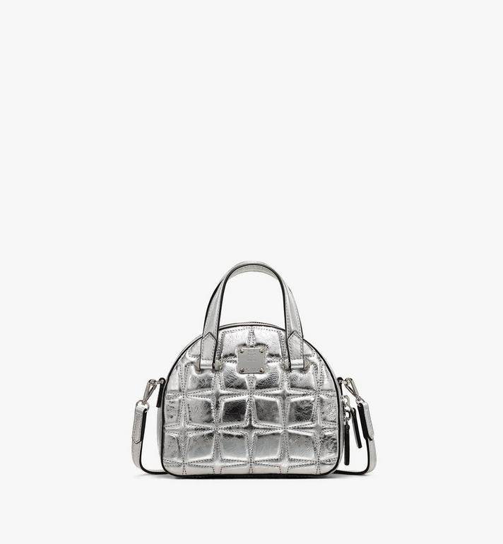 MCM Essential Half Moon Tote in Metallic Diamond Leather Alternate View