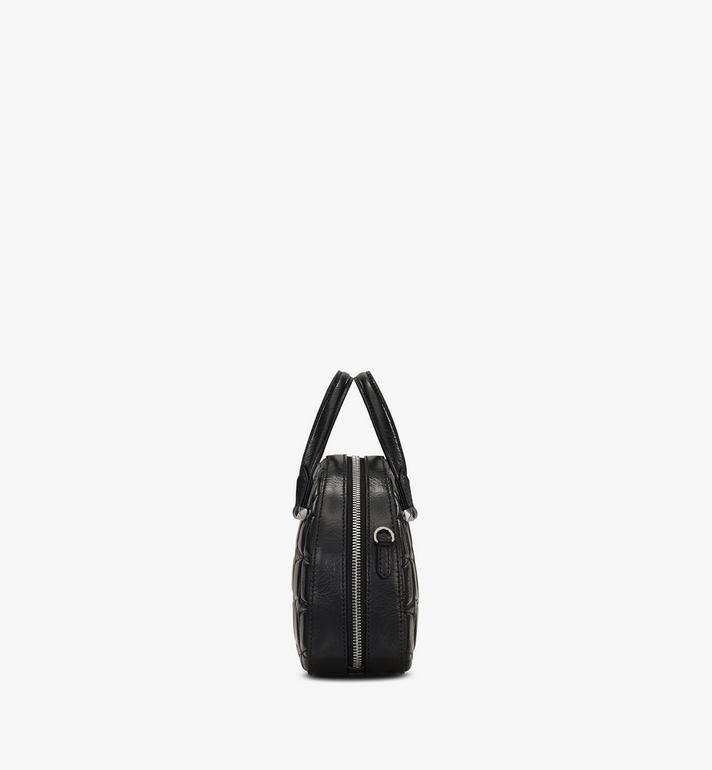 MCM Essential Half Moon Tote in Diamond Leather Black MWTASSE14BK001 Alternate View 2