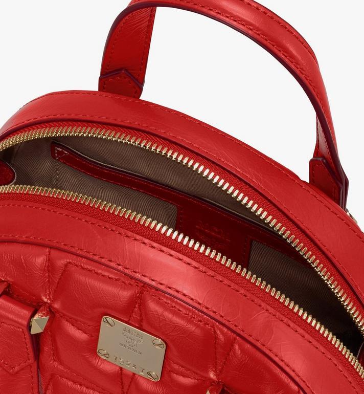 MCM Essential Half Moon Tote in Diamond Leather Red MWTASSE14R4001 Alternate View 4