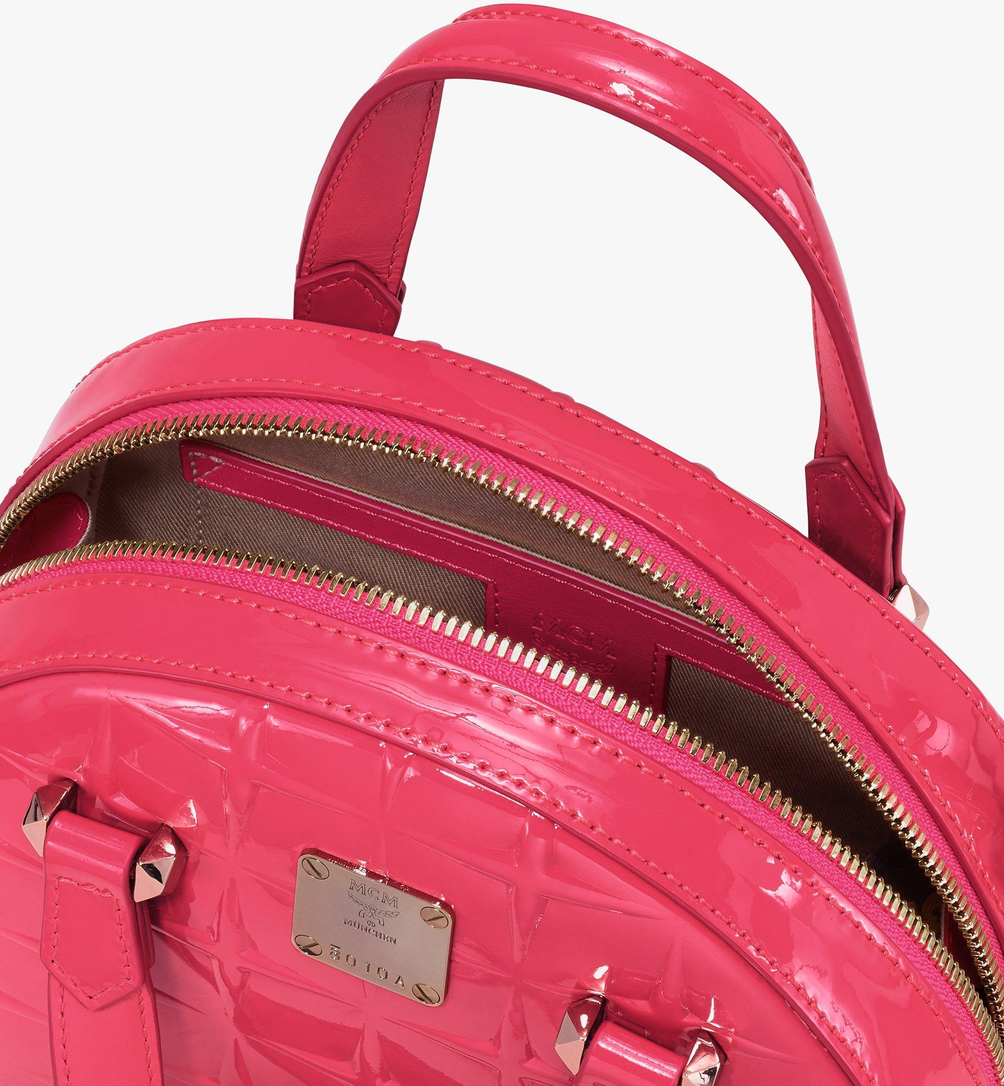 MCM 미니 에센셜 다이아몬드 페이턴트 레더 하프 문 토트 Pink MWTASSE15QE001 Alternate View 4