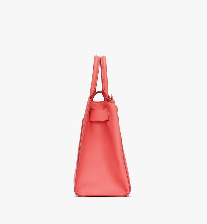 MCM Essential Tote in Monogram Leather Red MWTASSE16O3001 Alternate View 2