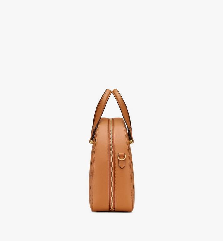 MCM Essential Half Moon Tote in Visetos Cognac MWTASSE18CO001 Alternate View 2