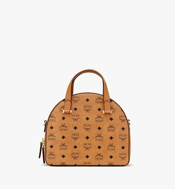 MCM Essential Half Moon Tote in Visetos Cognac MWTASSE18CO001 Alternate View 3