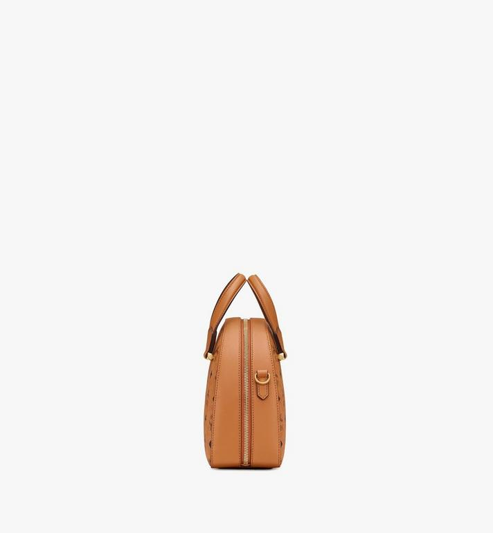 MCM Essential Half Moon Tote in Visetos Cognac MWTASSE19CO001 Alternate View 2