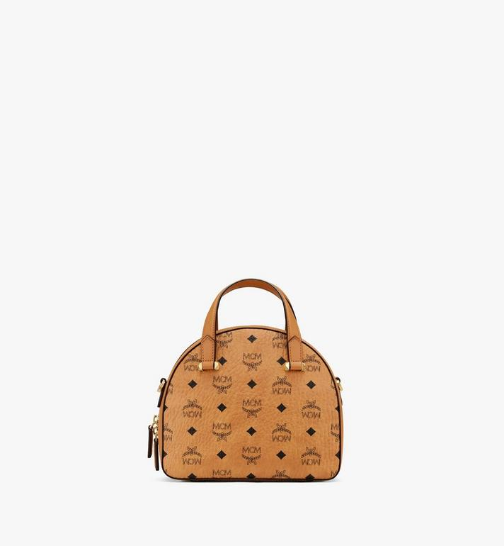 MCM Essential Half Moon Tote in Visetos Cognac MWTASSE19CO001 Alternate View 3