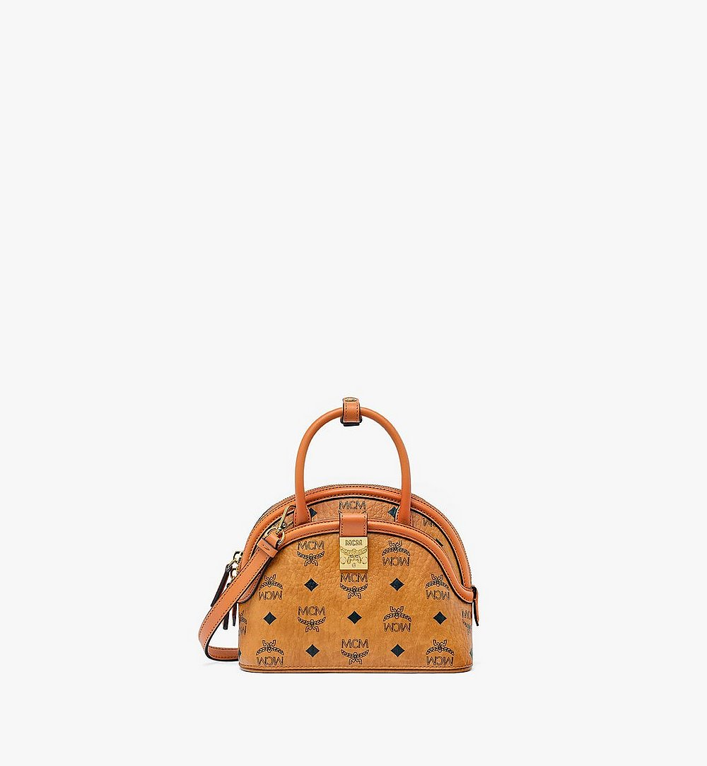 MCM Anna Tote in Visetos Cognac MWTBSNN02CO001 Alternate View 1