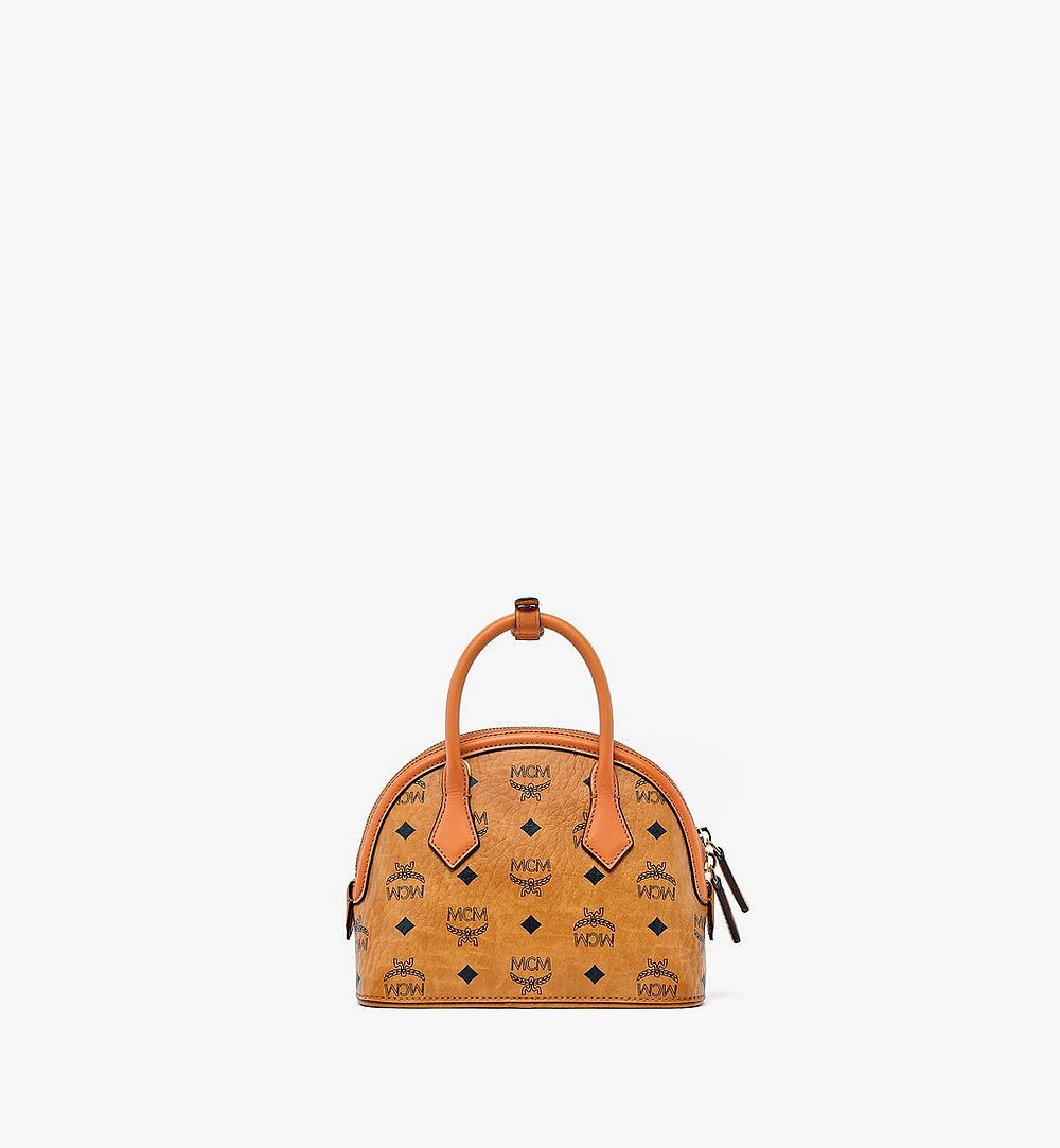 MCM Anna Tote in Visetos Cognac MWTBSNN02CO001 Alternate View 3