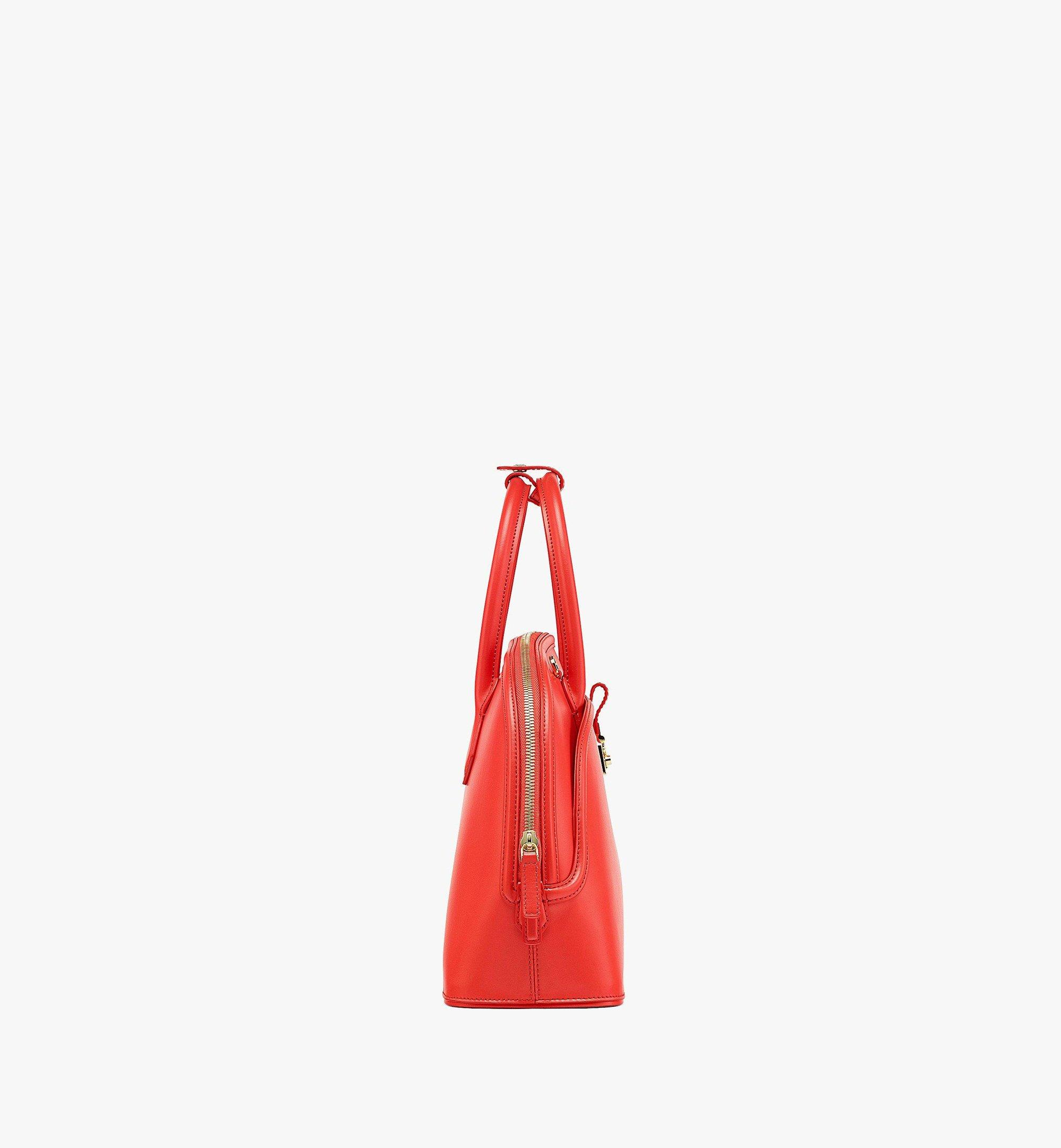MCM Anna Tote in Spanish Leather Red MWTBSNN03R8001 Alternate View 1