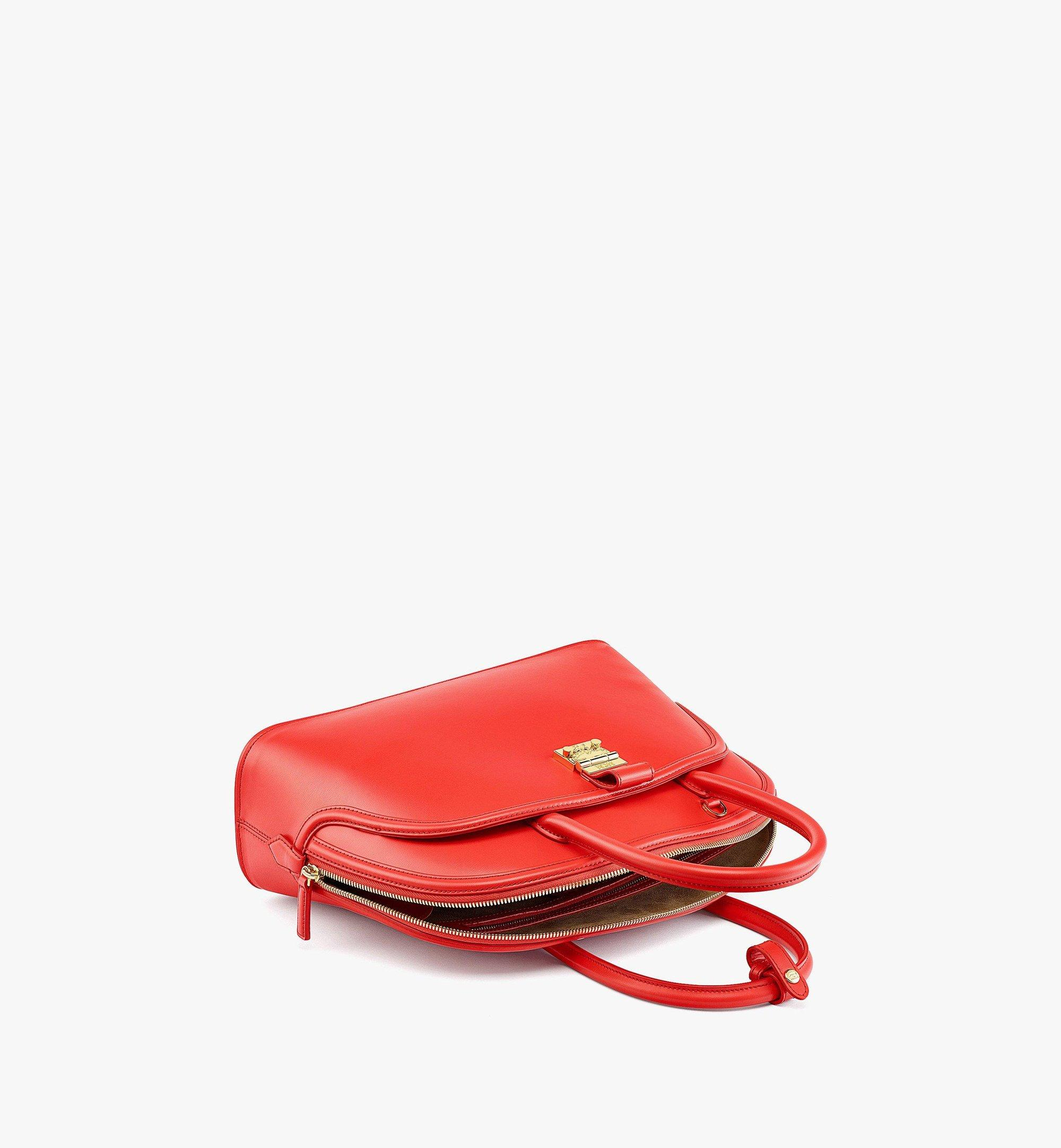 MCM Anna Tote in Spanish Leather Red MWTBSNN03R8001 Alternate View 2