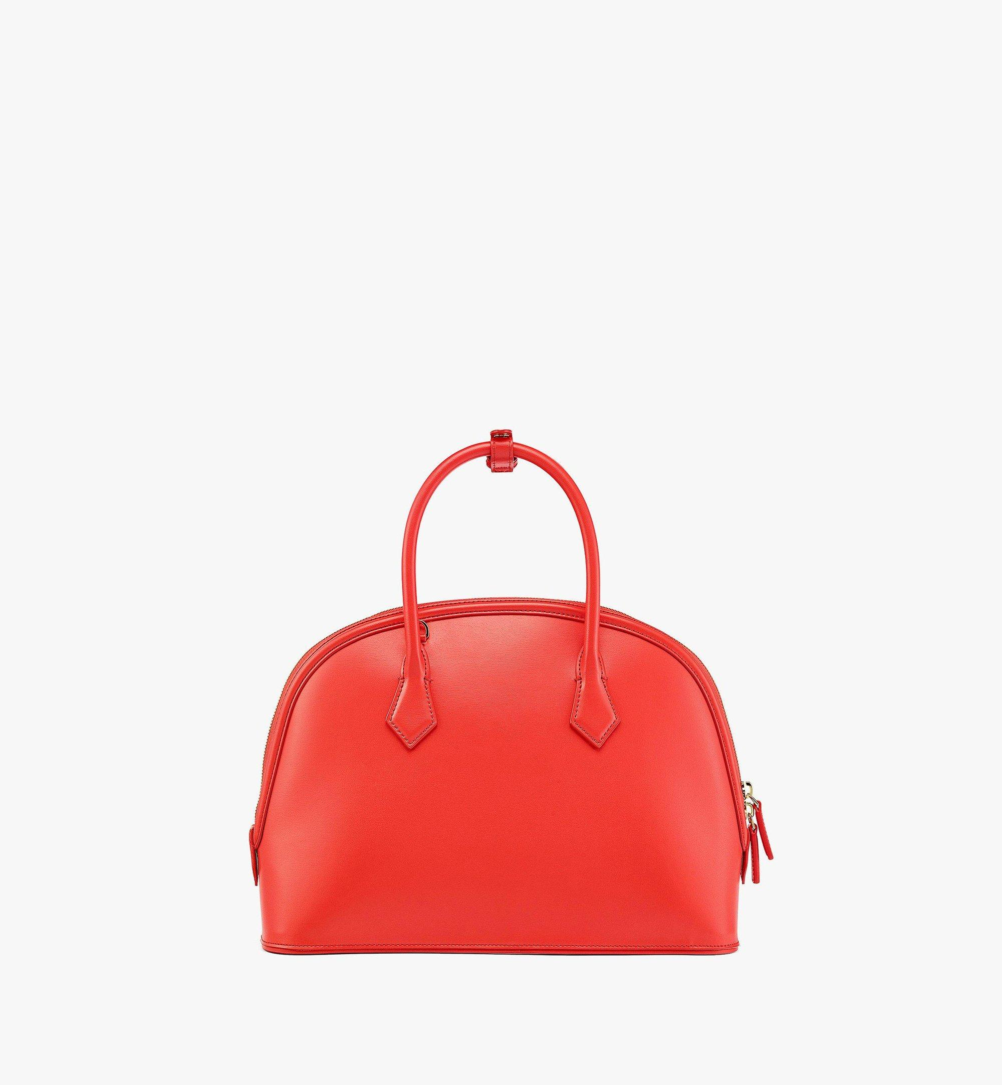 MCM Anna Tote in Spanish Leather Red MWTBSNN03R8001 Alternate View 3