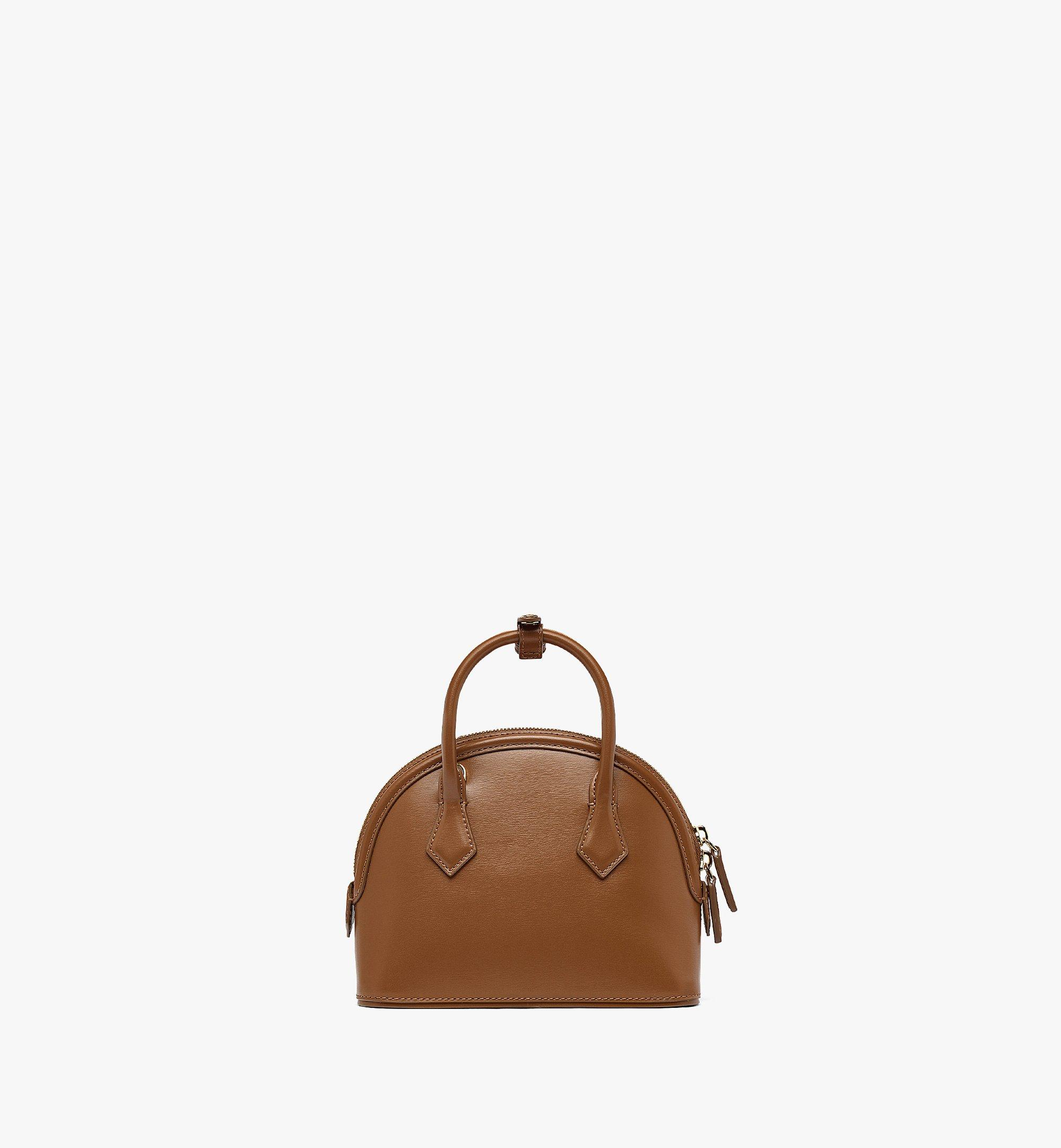 MCM Anna Tote in Spanish Leather Brown MWTBSNN04N7001 Alternate View 3