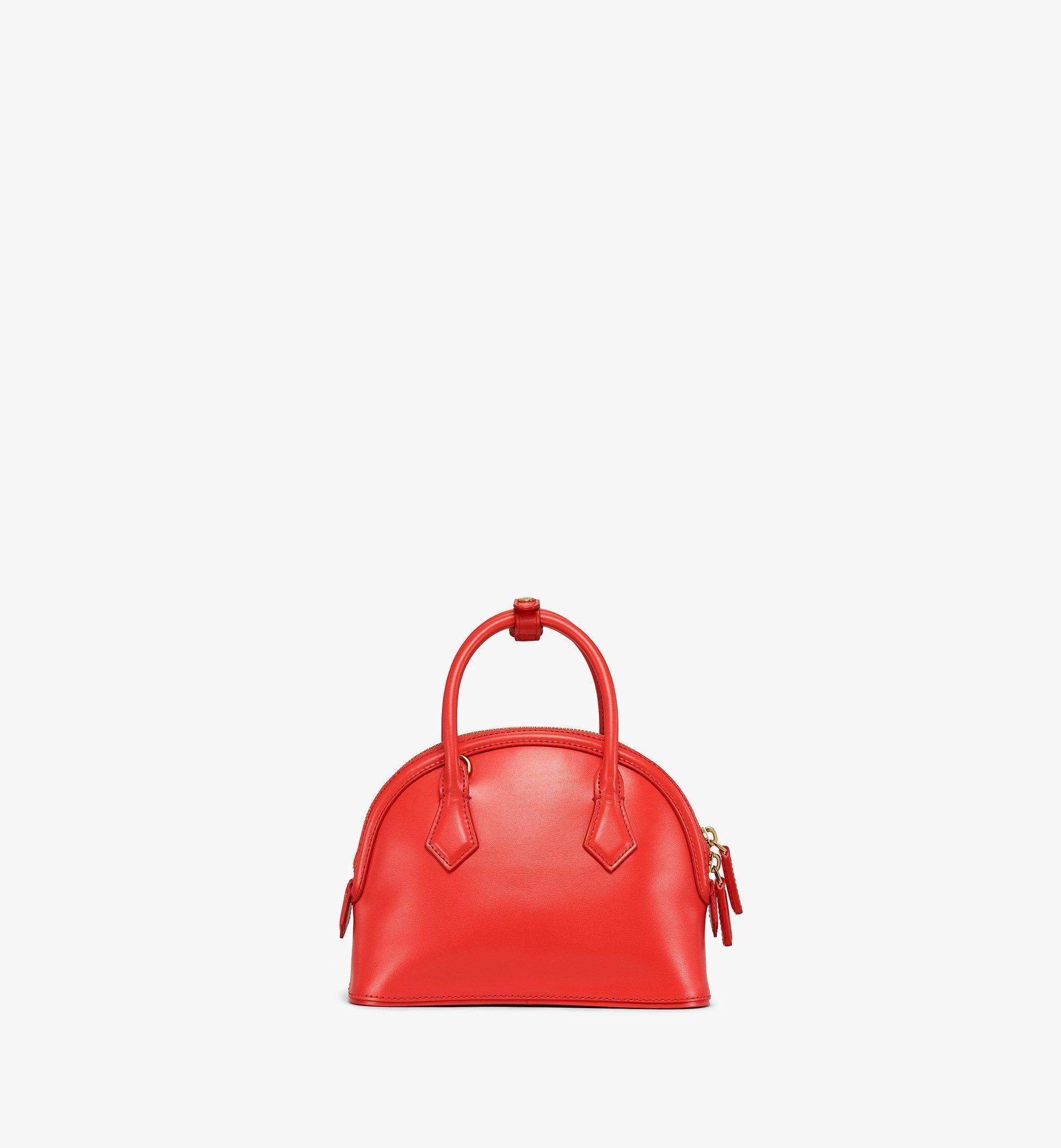 MCM AnnaTragetasche aus spanischem Leder Red MWTBSNN04R8001 Noch mehr sehen 3