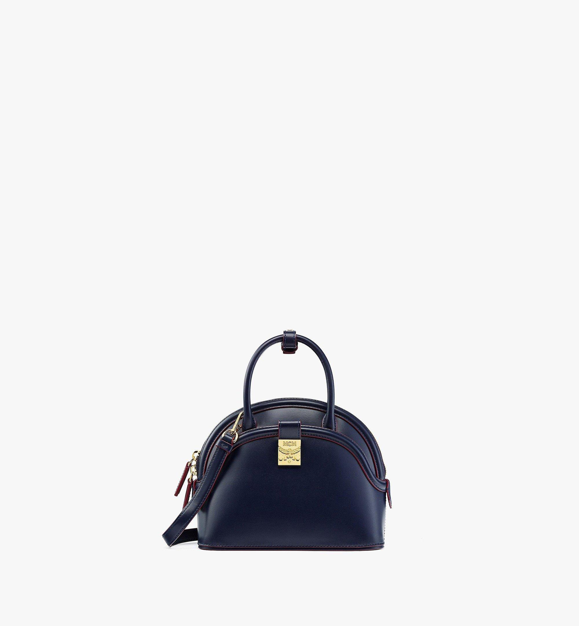 MCM Anna Tote in Spanish Leather Blue MWTBSNN04VZ001 Alternate View 1