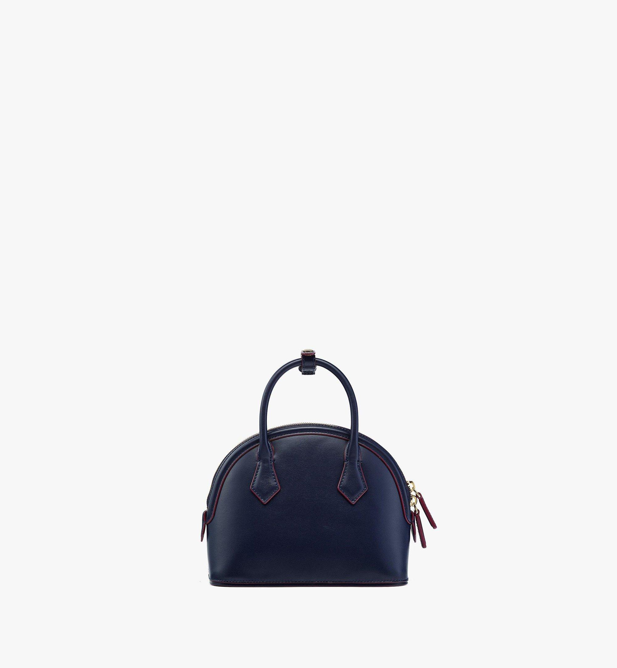 MCM Anna Tote in Spanish Leather Blue MWTBSNN04VZ001 Alternate View 3