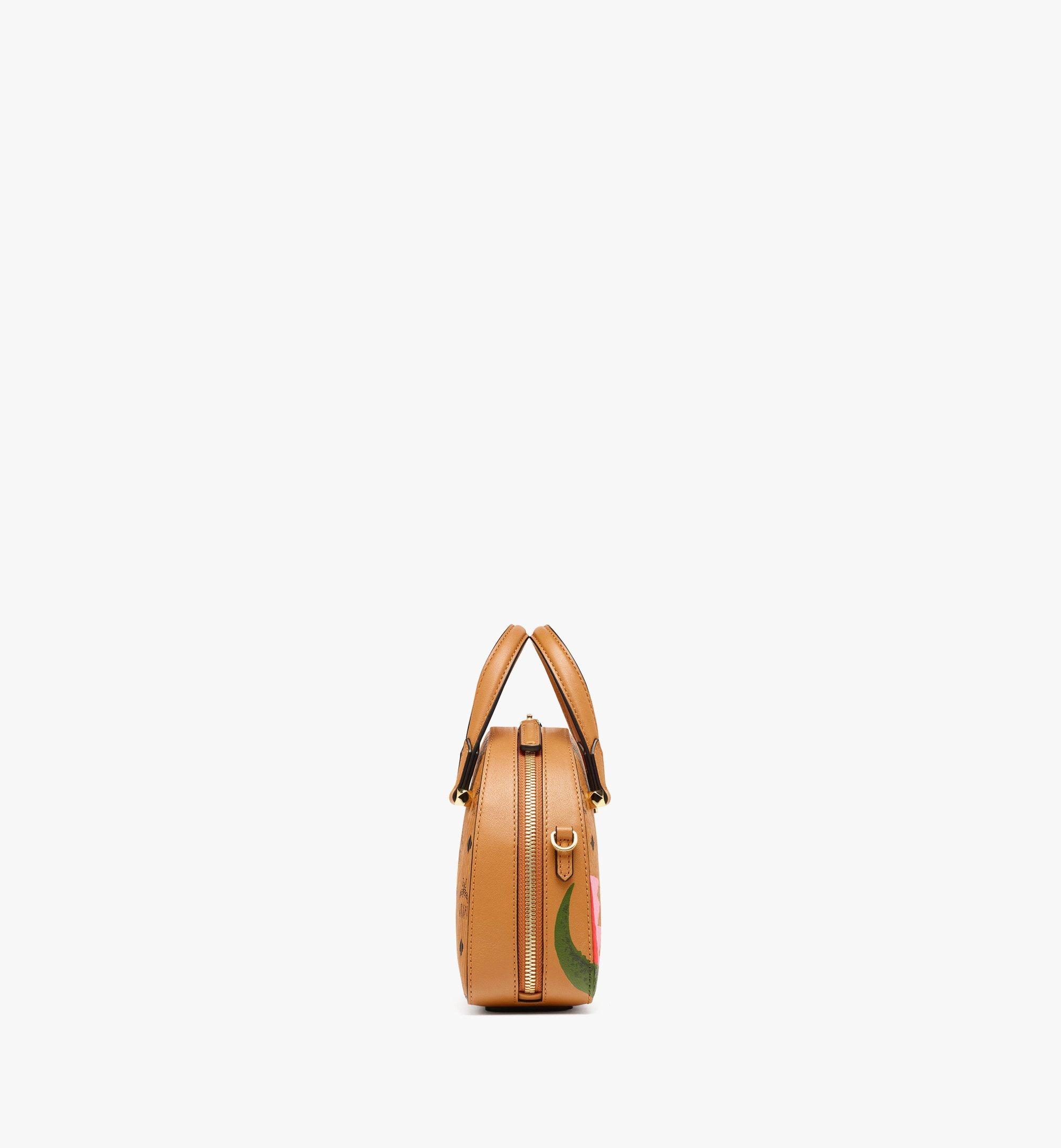 MCM Upcycling Project Half Moon Tote in Visetos Cognac MWTBSUP02CO001 Alternate View 1