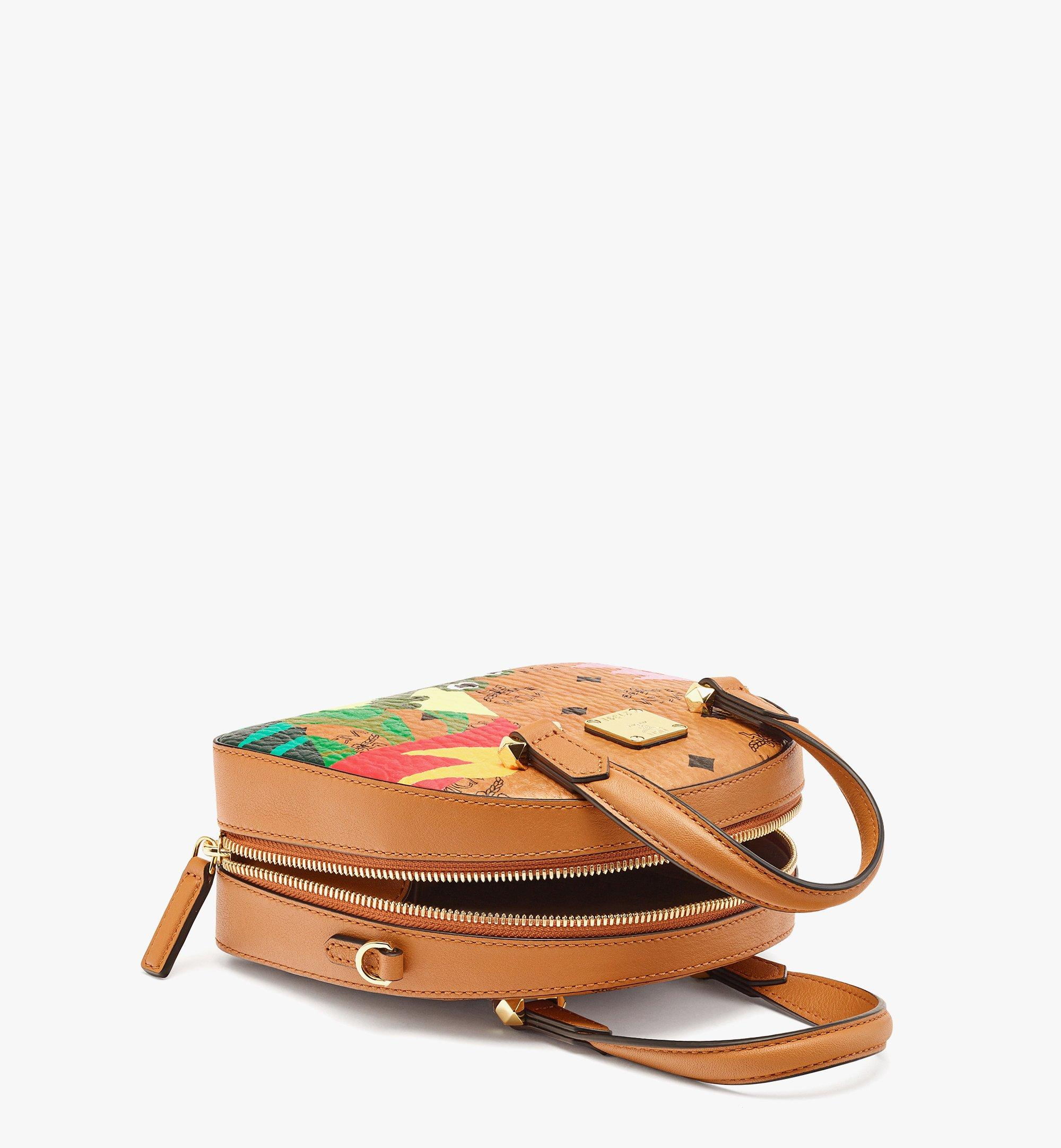 MCM Upcycling Project Half Moon Tote in Visetos Cognac MWTBSUP02CO001 Alternate View 2