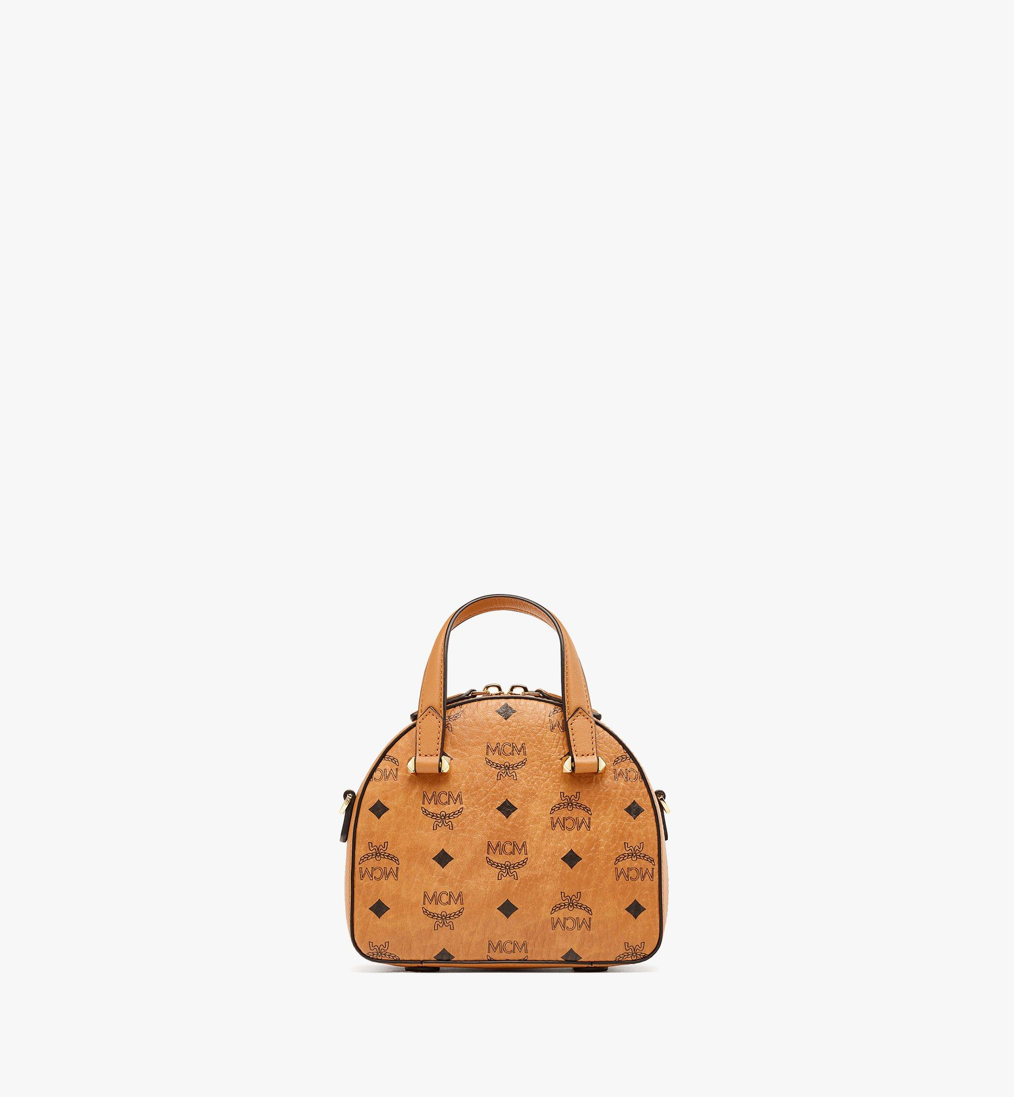 MCM Upcycling Project Half Moon Tote in Visetos Cognac MWTBSUP02CO001 Alternate View 3