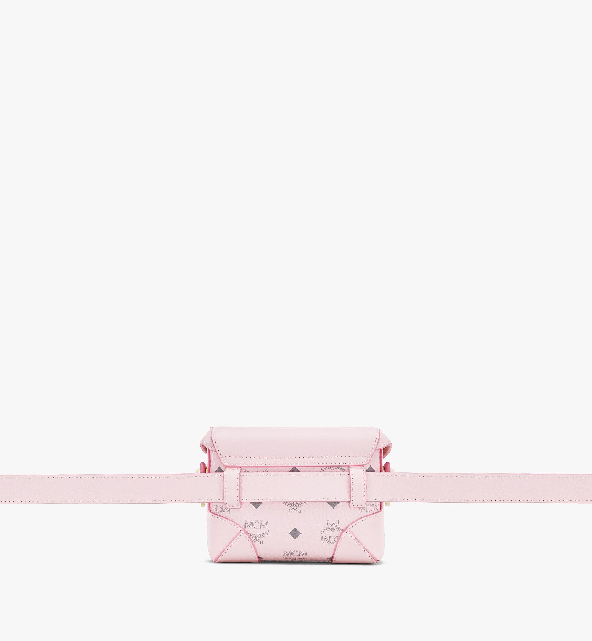 MCM Soft Berlin Belt Bag in Visetos Pink MWZ8ABF13QH001 Alternate View 2